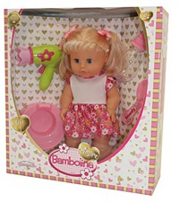 Bambolina Amore κούκλα πιπι ποπο, με μαλλιά & αξεσουάρ - DIMIAN